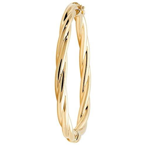 Large Hinged Patterned Twisted Bangle,Bangle bracelet,9k,14k,18k,750,585,375,gold,guld,topjwelleryuk,top jewellery,birmingham,uk