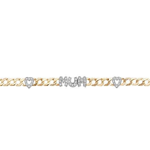 Mum CZ,cubic zircoina stones,zircoina stones,zircoina,ladies,ladies bracelet,curb.Curb,Yellow gold,Patterned Bangle,Bangle bracelet,9k,14k,18k,750,585,375,gold,guld,topjwelleryuk,top jewellery,birmingham,uk.2