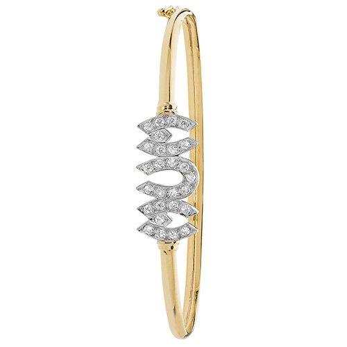 Mum Cz Bangle,Bangle bracelet,9k,14k,18k,750,585,375,gold,guld,topjwelleryuk,top jewellery,birmingham,uk