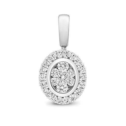 Oval Shape 18ct diamond pendant,Diamond Pendant,9ct,14ct,375,750,585,Bezel set pendant,topjewelleryuk,birmingham