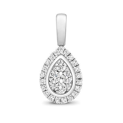 Pear Shape 18ct diamond pendant,Diamond Pendant,9ct,14ct,375,750,585,Bezel set pendant,topjewelleryuk,birmingham