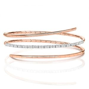 Rose Gold,Rose gold Diamonds Twisted Bangle,Ladies Diamonds bangle,Bangle,Gold,white gold hingde diamond bangle,9k,18k,14k,585,750,375,9ct,14ct,18ct,topjewellery,topjewelleryuk,goldonline.com,gold,goldonli