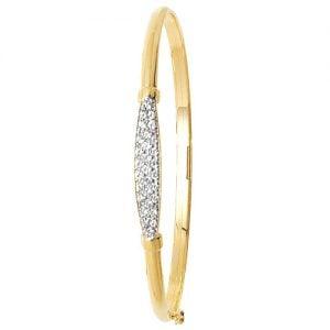 Simple Cz Bangle,Bangle bracelet,9k,14k,18k,750,585,375,gold,guld,topjwelleryuk,top jewellery,birmingham,uk
