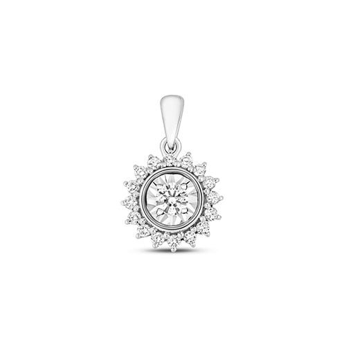 Star Illusion 9ct diamond pendant,Diamond Pendant,9ct,14ct,375,750,585,Bezel set pendant,topjewelleryuk,birmingham