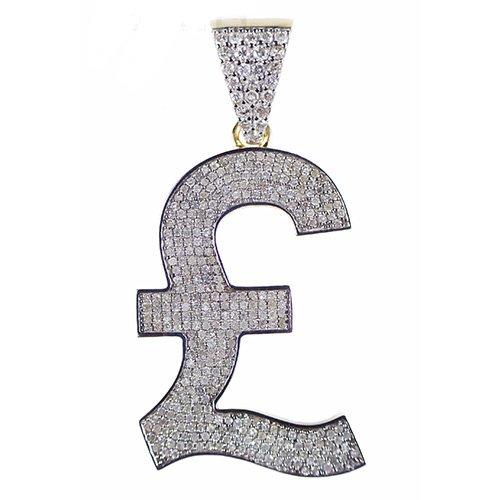 Sterling Pendant gold diamonds,Pound,pounds,Sterling pound pendant,diamonds,jewellery,topjewellery,diamond pendant,gold,9k,14k,18k,9ct,14ct,18ct,gold,guld,topjewelleryuk,topjwellery