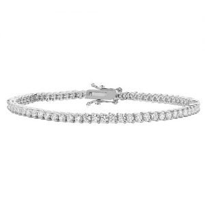 Tennis Bracelet 3.37,White Prong tennis Bracelet,White gold Diamonds Tennis Bracelet,Gold,white gold hingde diamond bangle,9k,18k,14k,585,750,375,9ct,14ct,18ct,topjewellery,topjewelleryuk,goldonline.com,goldonli