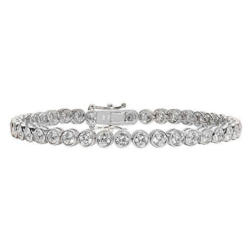 Tennis Bracelet 3.73,White Bezel tennis Bracelet,White gold Diamonds Tennis Bracelet,Gold,white gold hingde diamond bangle,9k,18k,14k,585,750,375,9ct,14ct,18ct,topjewellery,topjewelleryuk,goldonline.com,goldonli