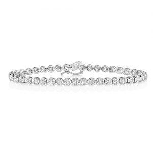 Tennis Cluster Bracelet 1.00,White tennis Bracelet,White gold Diamonds Tennis Bracelet,Gold,white gold hingde diamond bangle,9k,18k,14k,585,750,375,9ct,14ct,18ct,topjewellery,topjewelleryuk,goldonline.com,