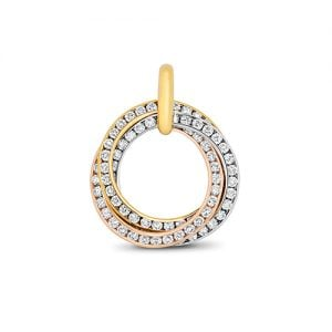 Tri colored 18ct Diamond Circle white yellow rose gold,whitegold,Diamond Circle,Circle,Gold,Diamond,18ct,9ct,14ct,topjewellery,topjewelleryuk,birmingham.2