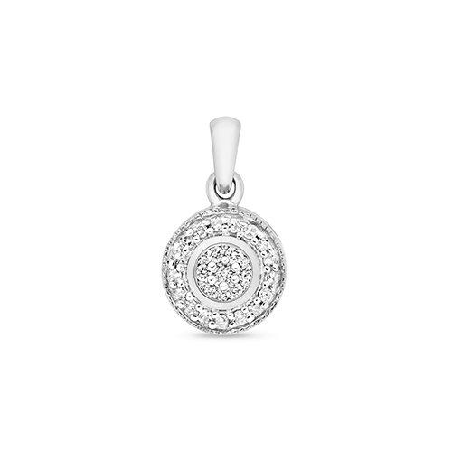 White diamond pendant cluster,Diamond Pendant,9ct,14ct,375,750,585,Bezel set pendant,topjewelleryuk,birmingham