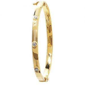 4 mm Cz Hinged Twisted Bangle,Bangle bracelet,9k,14k,18k,750,585,375,gold,guld,topjwelleryuk,top jewellery,birmingham,uk