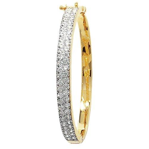 5 mm Cz Hinged Twisted Bangle,Bangle bracelet,9k,14k,18k,750,585,375,gold,guld,topjwelleryuk,top jewellery,birmingham,uk