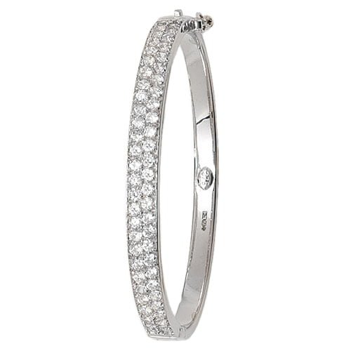 5 mm Cz Hinged Twisted Bangle,Bangle bracelet,9k,14k,18k,750,585,375,gold,guld,topjwelleryuk,top jewellery,birmingham,uk,white gold
