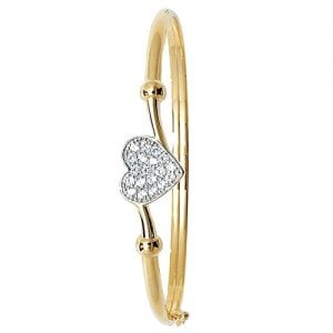 5 mm Cz Hinged Twisted Bangle,Bangle bracelet,9k,14k,18k,750,585,375,gold,guld,topjwelleryuk,top jewellery,birmingham,uk