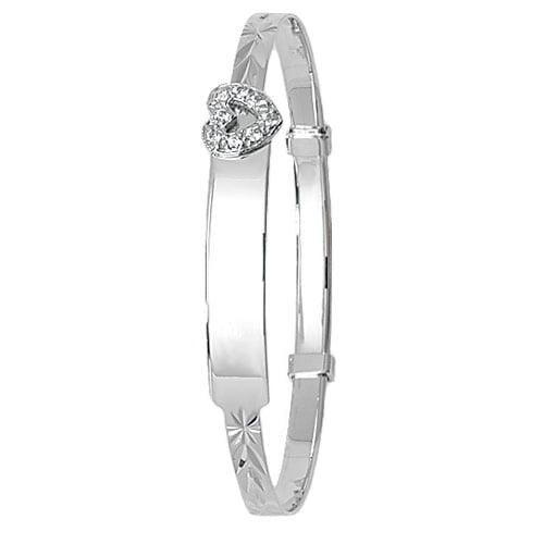 White Heart Bangle,Patterned Bangle,Bangle bracelet,9k,14k,18k,750,585,375,gold,guld,topjwelleryuk,top jewellery,birmingham,uk
