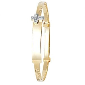 Cross Bangle,Patterned Bangle,Bangle bracelet,9k,14k,18k,750,585,375,gold,guld,topjwelleryuk,top jewellery,birmingham,uk