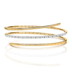 yellow Gold,yellow Diamonds Twisted Bangle,Ladies Diamonds bangle,Bangle,Gold,white gold hingde diamond bangle,9k,18k,14k,585,750,375,9ct,14ct,18ct,topjewellery,topjewelleryuk,goldonline.com,gold,goldonli