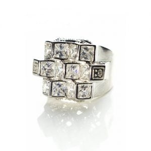 Cluster Sterling silver signet ring,pinky ring,silver ring,signet ring,poinky ring,925,ring,top jewellery,topjewelleryuk,birmingham,uk