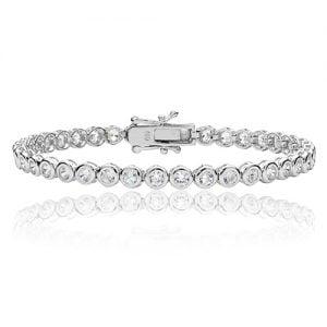 Bezel set Silver tennis Bracelet,925,9ct,18ct,14ct,topjewellery,top,jewellery,topjewelleryukBirmingham,Jewellery Quarter