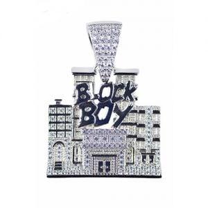 Block boysilver pendant,silver pendant,topjewelleryuk,top jewellery,silver,925,iced out