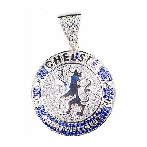 Chelsea football club silver pendant,silver pendant,topjewelleryuk,top jewellery,silver,925,iced out
