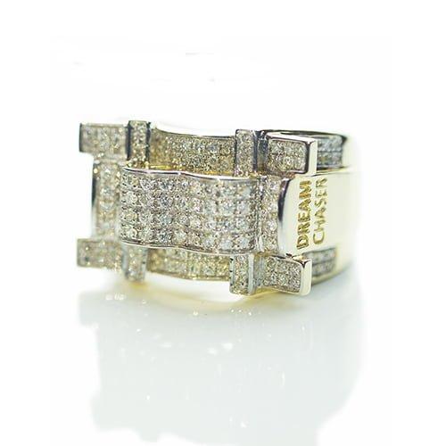 Dream Chaser Diamond ring,signet diamond ring,diamon mens ring,mens ring,gold,9ct,9k,18k,18ct,375,750,gents diamond ring