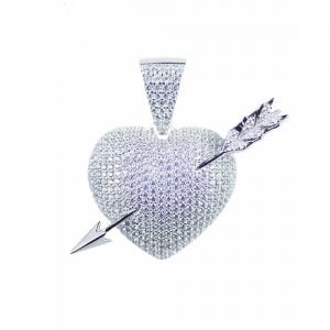 Heart Cupid pendant,silver pendant,topjewelleryuk,top jewellery,silver,925,iced out