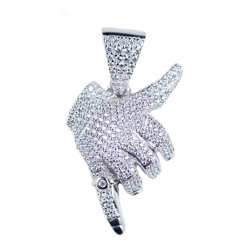 Hotline Bling silver pendant,silver pendant,topjewelleryuk,top jewellery,silver,925,iced out