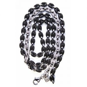 Mular Double Sided Black N White Silver,Topjewellery