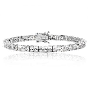 Princess cut 3 mm Silver tennis Bracelet,925,9ct,18ct,14ct,topjewellery,top,jewellery,topjewelleryukBirmingham,Jewellery Quarter