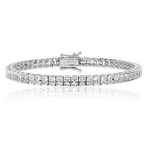 Princess cut 3 mm Silver tennis Bracelet,925,9ct,18ct,14ct,topjewellery,top,jewellery,topjewelleryukBirmingham,Jewellery Quarter