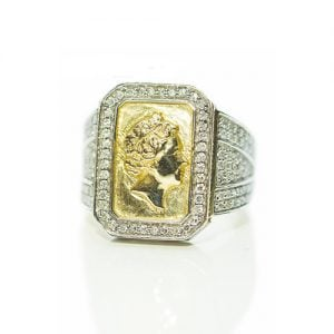 Queen Head Diamond ring,signet diamond ring,diamon mens ring,mens ring,gold,9ct,9k,18k,18ct,375,750,gents diamond ring