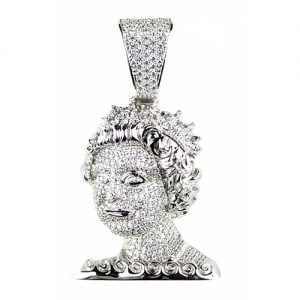 Queen of England,silver pendant,silver arsenal pendant,925,colored stones,Queen 925 silver,black and white