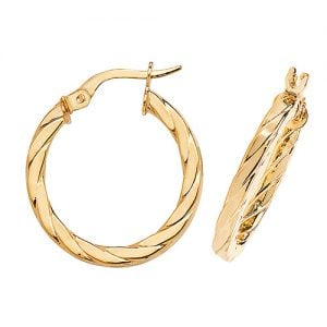 Round Flat Twisted Yellow Gold Hoop Earrings,white Gold Hoop Earrings 20 mm,30mm ,9ct,18ct,14ct,topjewellery,top,jewellery,topjewelleryukBirmingham,Jewellery Quarter.1