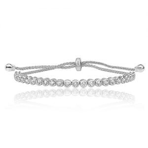 Silver Pull & Rub over tennis Bracelet,adjustble bracelet,925,9ct,18ct,14ct,topjewellery,top,jewellery,topjewelleryukBirmingham,Jewellery Quarter