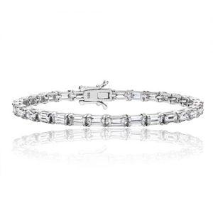 Silver tennis Bracelet Baquette stones,925,9ct,18ct,14ct,topjewellery,top,jewellery,topjewelleryukBirmingham,Jewellery Quarter