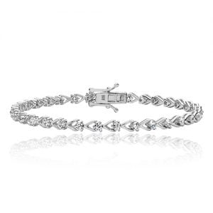 Silver tennis Bracelet heart shaped,925,9ct,18ct,14ct,topjewellery,top,jewellery,topjewelleryukBirmingham,Jewellery Quarter