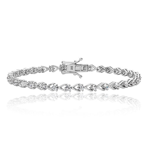 Silver tennis Bracelet heart shaped,925,9ct,18ct,14ct,topjewellery,top,jewellery,topjewelleryukBirmingham,Jewellery Quarter