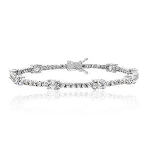 Silver tennis Bracelet oval & round,925,9ct,18ct,14ct,topjewellery,top,jewellery,topjewelleryukBirmingham,Jewellery Quarter