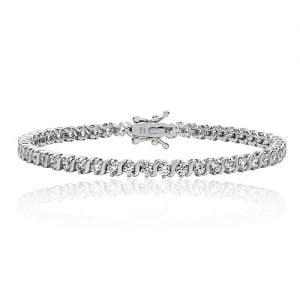 Silver tennis Bracelet s-shaped,925,9ct,18ct,14ct,topjewellery,top,jewellery,topjewelleryukBirmingham,Jewellery Quarter