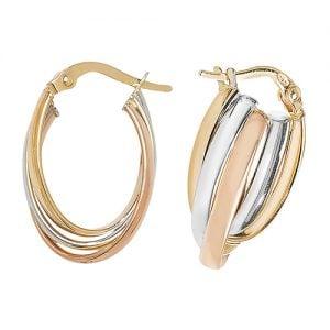 Tri Color Rose,White & Yellow Gold Hoop Earrings,white Gold Hoop Earrings 20 mm,30mm ,9ct,18ct,14ct,topjewellery,top,jewellery,topjewelleryukBirmingham,Jewellery Quarter.1