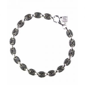 Two Colored Black & white Devante silver bracelet, topjewelleryuk,top jewellery,sivler bracelet 925, birmingham.1