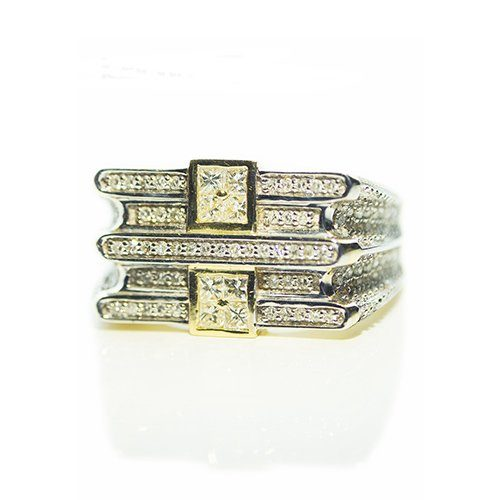 Two Square Diamond ring,signet diamond ring,diamon mens ring,mens ring,gold,9ct,9k,18k,18ct,375,750,gents diamond ring