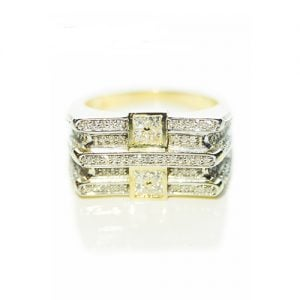 Two Square Diamond ring,signet diamond ring,diamon mens ring,mens ring,gold,9ct,9k,18k,18ct,375,750,gents diamond ring.2