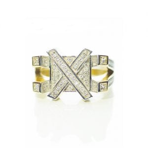 X - Ring Diamond ring,signet diamond ring,diamon mens ring,mens ring,gold,9ct,9k,18k,18ct,375,750,gents diamond ring