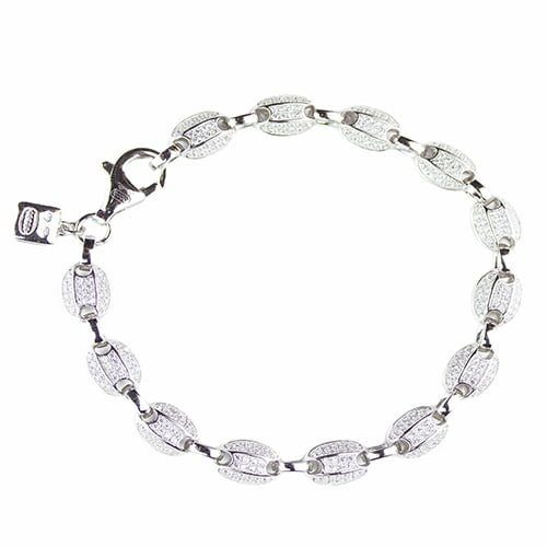 Two Colored Black & white Devante silver bracelet, topjewelleryuk,top jewellery,sivler bracelet 925, birmingham.2