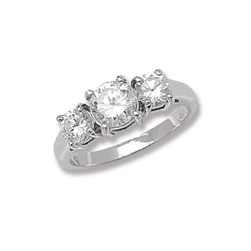 Brilliant Cut Ladies 3 Trilogi Cz Patterned Sterling silver Signet ring 925,Signet ring, Top Jewellery UK,Birmingham,Topjewelleryuk