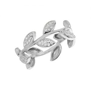Bush Flower Ladies Cz Patterned Sterling silver Signet ring 925,Signet ring, Top Jewellery UK,Birmingham,Topjewelleryuk