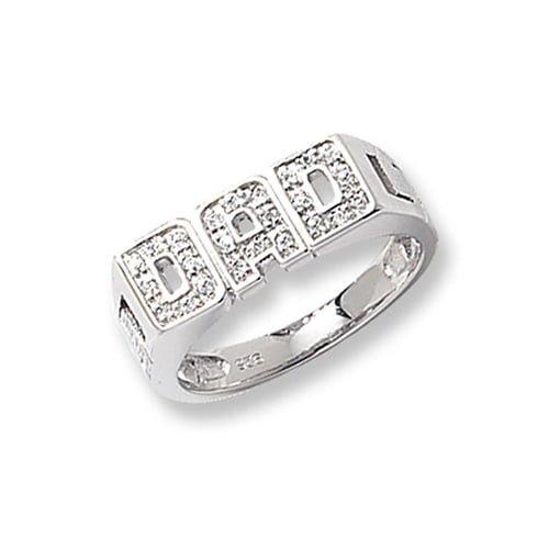 Cz DAD Patterned Sterling silver Signet ring 925,Signet ring, Top Jewellery UK,Birmingham,Topjewelleryuk