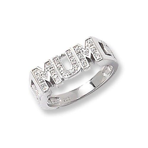 Cz MUM Patterned Sterling silver Signet ring 925,Signet ring, Top Jewellery UK,Birmingham,Topjewelleryuk